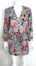 EIGHT SIXTY Drawstring Shirt Dress size XS Lavender Floral Print WORN ONCE