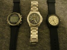 TIMEX EXPEDITION LOT of 3 100M/50M MENS WATCHES 1 DIGITAL 2 ANALOG - NEW BATTS