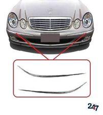 NEU Mercedes Benz MB E W211 03-06 FRONT STOßSTANGE Profil Chrom Zierleiste Paar