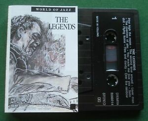World Of Jazz Legends Stephane Grappelli Louis Armstrong + Cassette Tape TESTED