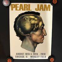 Pearl Jam Chicago Wrigley Field Poster 2018 Brainchild Aug 18&20 Matt Cunningham