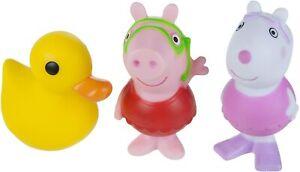 Bath Squirtees Peppa Pig Suzy Sheep Quack Duck Bath Toy Set of 3 Gift Kids NEW