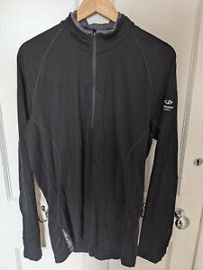 Icebreaker merino 200 weight 1/4 zip top - Black mens XL - Very good condition