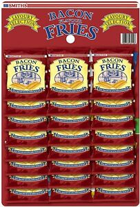 Smiths Savoury Snacks Selection Bacon Fries 24g (Pack of 24) BB 13/11/2021