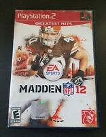 Madden NFL 12 PS2 Sony PlayStation 2 Complete CIB tested and working