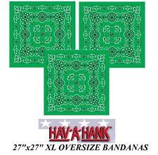 3-XL Super Grand Oversize Vert Paisley 68.6cmBandanna Bandana Coton Tête Écharpe