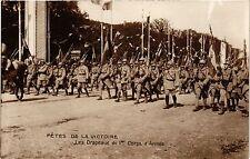 CPA MILITAIRE Fétes de la Victoire-Les Drapeaux du 1er Corps d'Armée (317458)