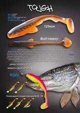 """5 leurres souples Tough 5""""  CRAZY FISH 12,5cm  pêche brochet sandre silure bar"""