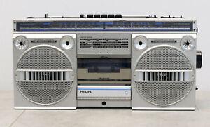 Philips D8134 Radio Kassettenrecorder von 1984 / 85 Ghettoblaster