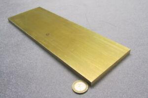 """360 Brass Flat Bar 3/8"""" Thick x 4.00"""" Wide x 12.0"""" Length"""