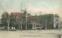 Boise Idaho C-1910 St Luke's Hospital Postcard hand colored Faust 1054
