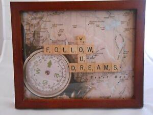 """Scrabble Tiles Sign, """"Follow Your Dreams"""", Home Decor, Inspirational"""
