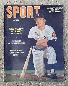Sport Magazine April 1953 Mickey Mantle New York Yankees Baseball Cover