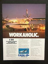 10/1986 PUB AVION CASA C-212 CARGO SPANISH AIRCRAFT ORIGINAL FLUGZEUG AD