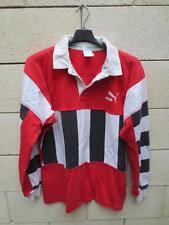VINTAGE Maillot rugby PUMA couleur Toulon noir rouge blanc ancien coton shirt L