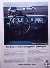 1970 70 Pontiac Firebird Trans Am ORIGINAL Vintage Ad  CMY STORE   5+= FREE SHIP