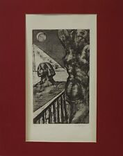 ERNST WOLFHAGEN (1907-1992) AKT IN ÄGYPTEN / STRASSENSZENE BLATT 61/80 HANNOVER