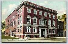 The Y.M.C.A. Building in Jackson, Michigan YMCA Divided Back Postcard Unused