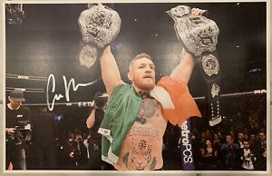 Connor McGregor Signed 11x17 Poster Cert HOLOGRAM NOTORIOUS UFC