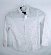 Calvin Klein long sleeve white button-up shirt large