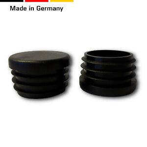 20 Fußstopfen/Stuhlgleiter/Endkappen/Abdeckung, schwarz,runde Rohre,flacher Kopf