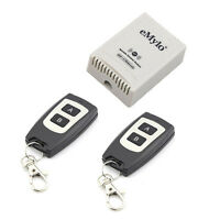 DC 24V 2 Channels Remote Control Switch Wireless RF 2 Transmitter Self-locking