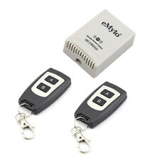DC 24V 2 Channels Remote Control Switch Wireless RF 2 Transmitter Self-locking