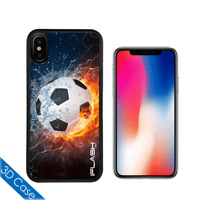 iPhone X Case 3D Stereo Wiggle Designs By iFlash USA - Soccer Balls