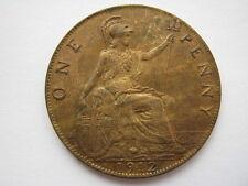 1912 h penny un unc