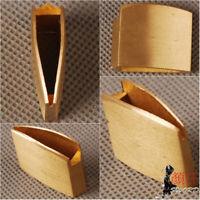 Small Plain Brass Habaki Collar For Japanese Samurai Sword Wakizashi Tanto Blade