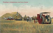 SCOTT , Saskatchewan , Canada , 1912 ; Threshing