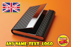 Personalised Business card holder synthetic leather and velvet inside