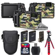 Nikon COOLPIX W300 Waterproof Digital Camera (Camo) + Extra Battery - 32GB Kit
