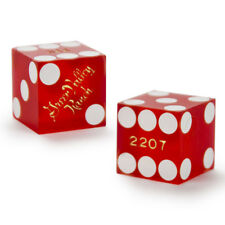 (2) 19mm GREEN VALLEY RANCH official casino-used precision dice - poker, craps