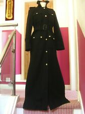 ERA £ 45 MARKS AND SPENCER NERO O BLU SCURO sfoderato Duster Coat vendita