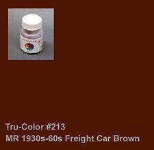 213 Tru-Color Paint MR 1930s-1960s Freight Car Brown