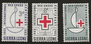 Sierra Leone Scott #248-50, Singles 1963 Complete Set FVF MH
