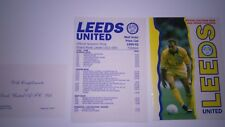 Rare Leeds United club shop catalogue and price list 1991