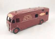 VINTAGE DINKY # 981 BRITISH RAILWAYS HORSE BOX LORRY TRUCK DIECAST 1954 MAROON