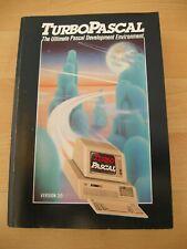 Vintage Computer Manual, TURBO PASCAL programming - RARE 1986, Barn find, No Res