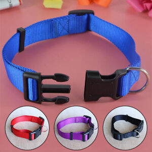 Dog Collar Adjustable Nylon Neck Strap for Little Small Pet Dog Cat Puppy S-XL