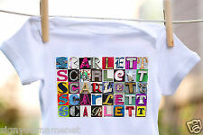SCARLETT Baby Bodysuit in Sign Letter Photos - 100% Cotton & Short Sleeve