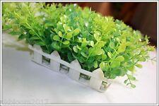 VERDE ARTIFICIALE piccole foglie Pianta Eucalipto ERBA POT Home Decor