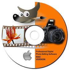 NEW 2018 Digital Photo Image Editing Graphics Software-GIMP-w/Shop Guide-MAC-CD