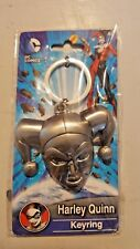 DC Harley Quinn Batman Pewter Keychain Key Ring