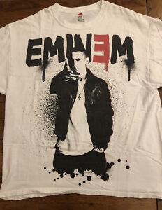 Eminem Paint Dripping Threshold Tour 2011 White Shirt Adult XL