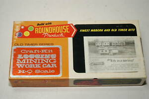 Roundhouse HO Old Timer Series 3-in-1 Craft Kit 1503 3 30' MOW Cars