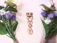 3 x Welsh Dragon Head Love Heart Personalised Wedding Favour Love Spoon £1 each
