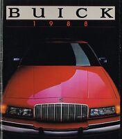1988 BUICK Brochure: RIVIERA,REGAL,LeSABRE,ELECTRA,PARK AVENUE,SKYLARK,Wagon,
