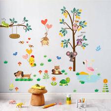 Kids Baby Children Room Cartoon Animal Wall Stickers Vinyl Decor DIY Art Decal